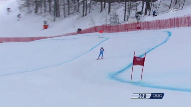 Video «Sotschi: Ski, Abfahrt Männer, Fahrt von Innerhofer» abspielen