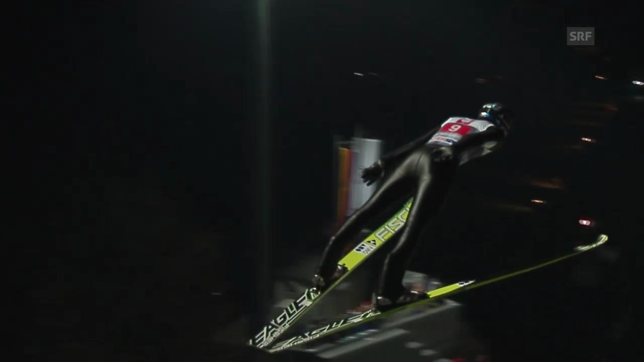 Skispringen: 2. Sprung von Thomas Morgenstern in Bischofshofen («sportlive», 06.01.2014)