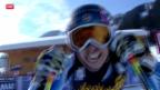 Video «Ski: Abfahrt Frauen in Méribel» abspielen