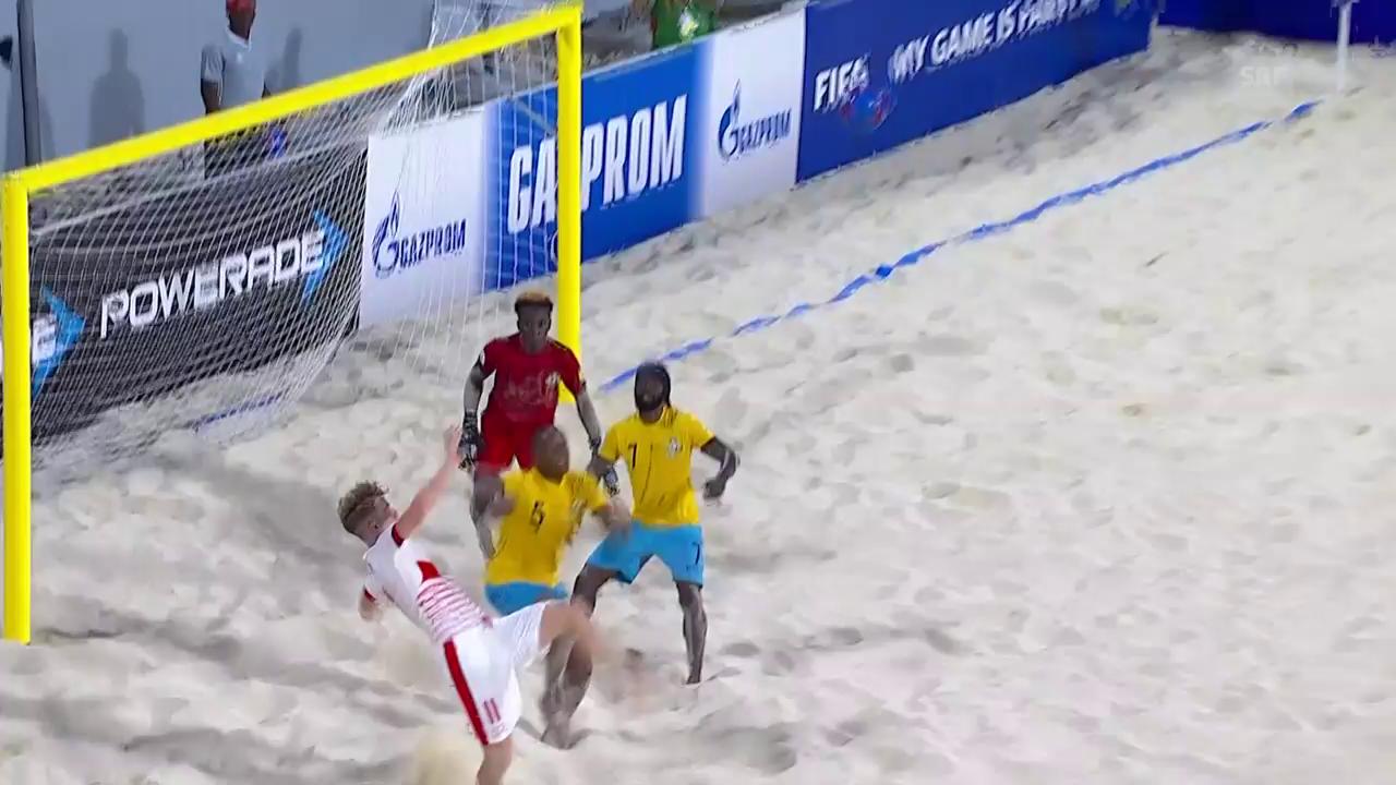 Beachsoccer-Nati mit knappem WM-Startsieg