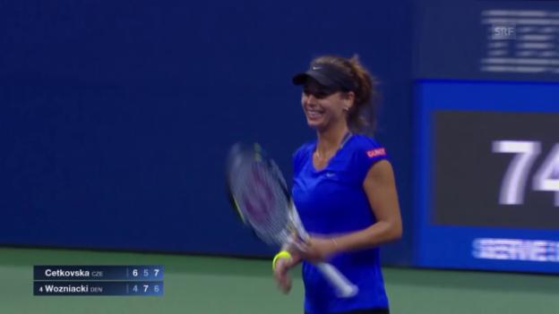 Video «Tennis: US Open, Cetkovska schlägt Wozniacki» abspielen