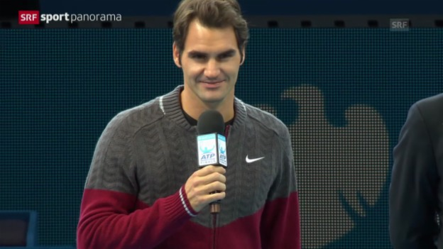 Video «Tennis: ATP Finals, Federer erklärt Forfait» abspielen