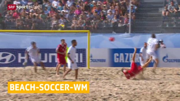 Video «Beachsoccer: WM in Portugal, Gruppenspiel Schweiz - Italien» abspielen