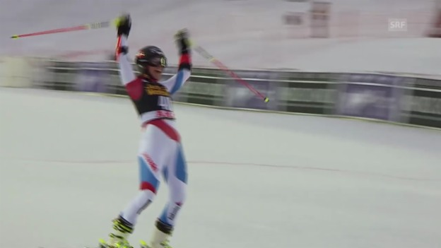 Video «Ski Alpin: Riesenslalom Frauen in Are, 1. Lauf Wendy Holdener (unkommentiert, 7.3.2014)» abspielen