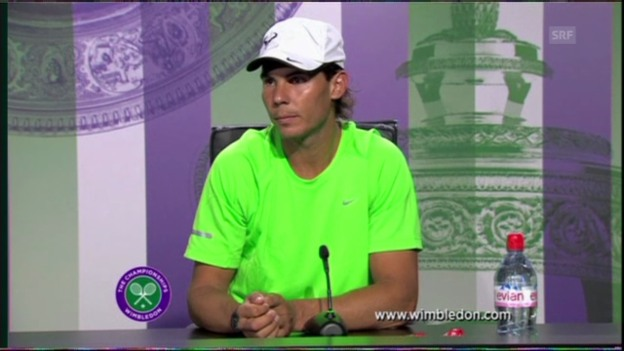 Video «Tennis: Auszüge aus der Pressekonferenz mit Nadal (Englisch)» abspielen