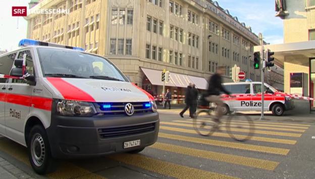 Video «Versuchter Banküberfall in Zürich» abspielen