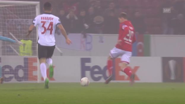 Video «Mainz verabschiedet sich mit Heimsieg aus der Europa League» abspielen
