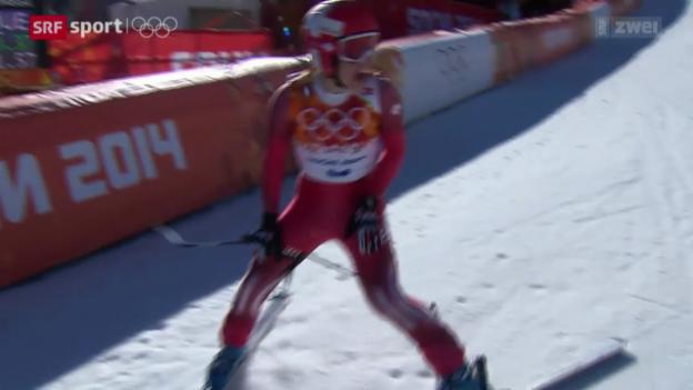 Video «Ski: Die Abfahrt der Frauen» abspielen