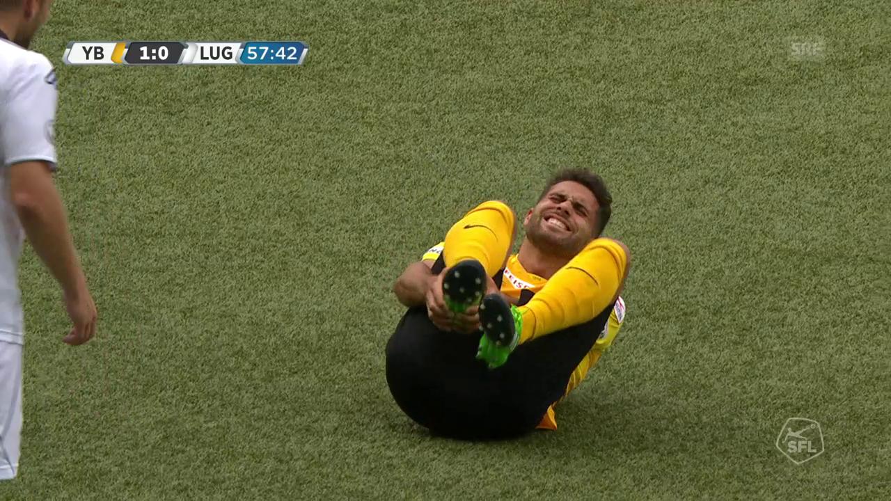 Bertone foult und verletzt sich dabei