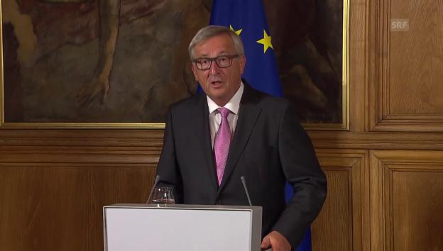 Video «Jean-Claude Juncker: Konstruktive Gespräche» abspielen