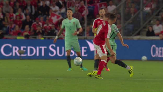 Video «Effiziente Schweizer, bemühte Portugiesen: die Live-Highlights» abspielen