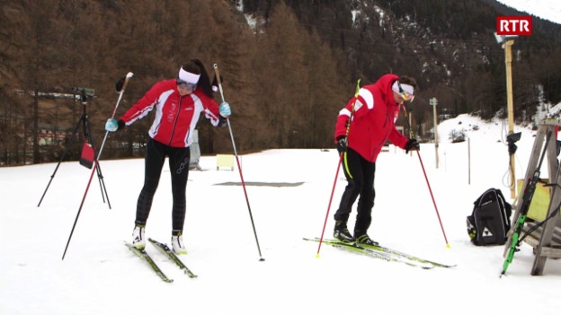 Laschar ir video «2 atlets - 1 cumpetiziun»