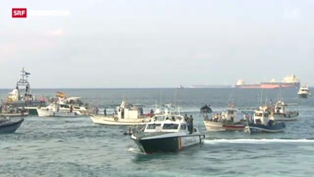Video «Fischer protestieren in Gibraltar» abspielen