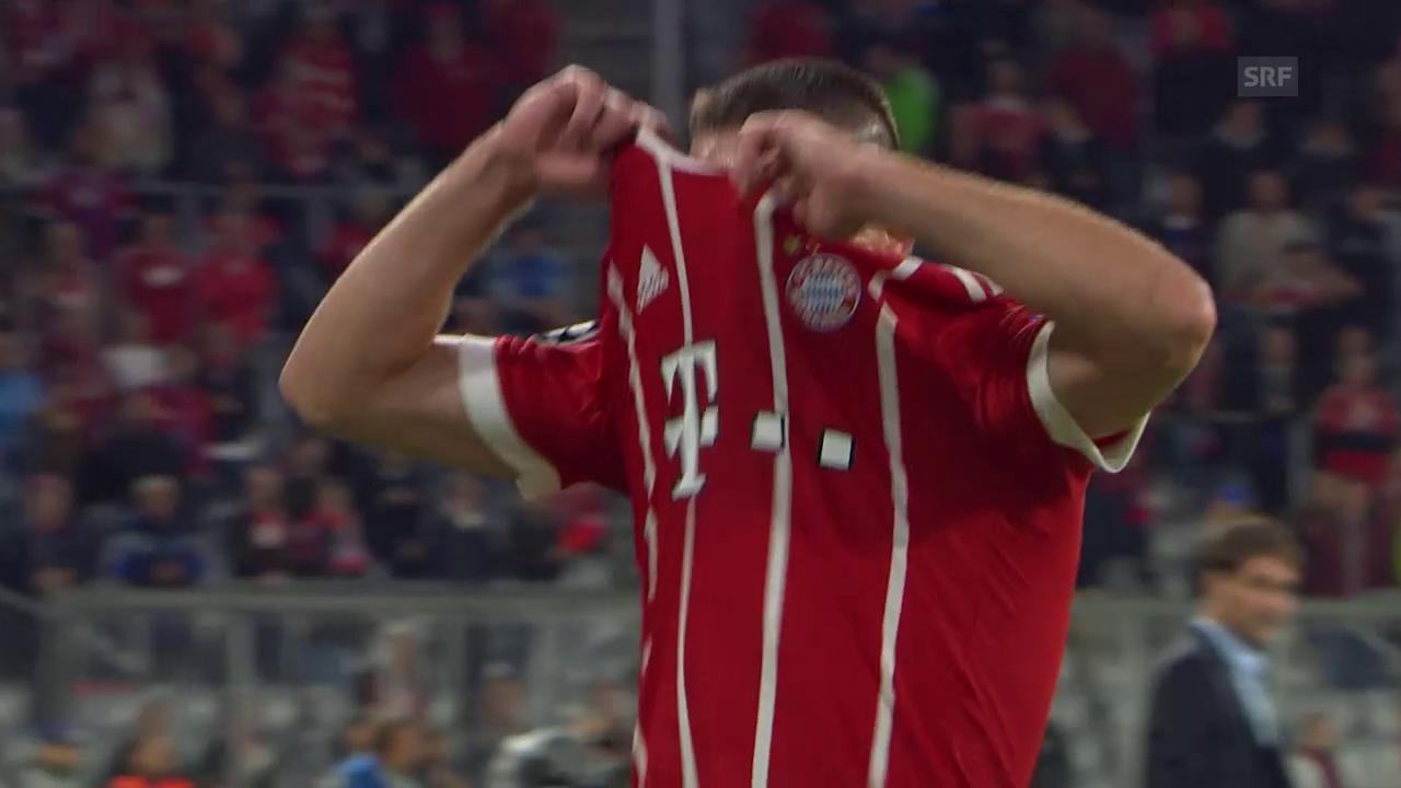 Franck Ribérys Trikotwurf nach der Auswechslung