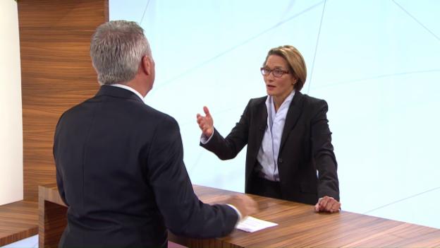 Video «ECO – Das Wirtschaftsmagazin: Im Studio Andréa Maechler | US-Parlamentssitze | Europa-Serie (2)» abspielen