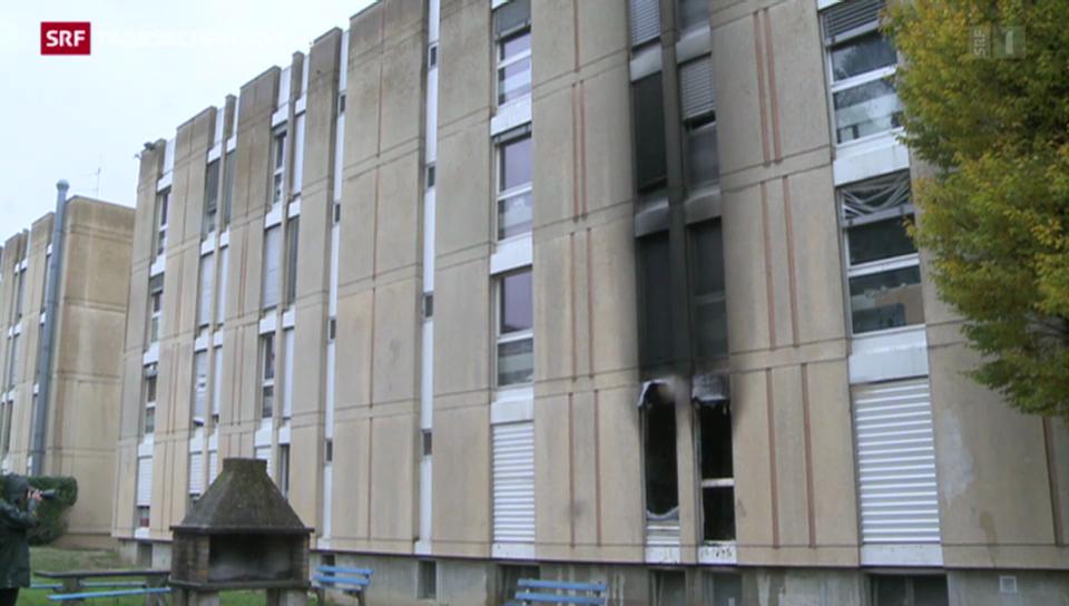 Brand in einem Asylzentrum
