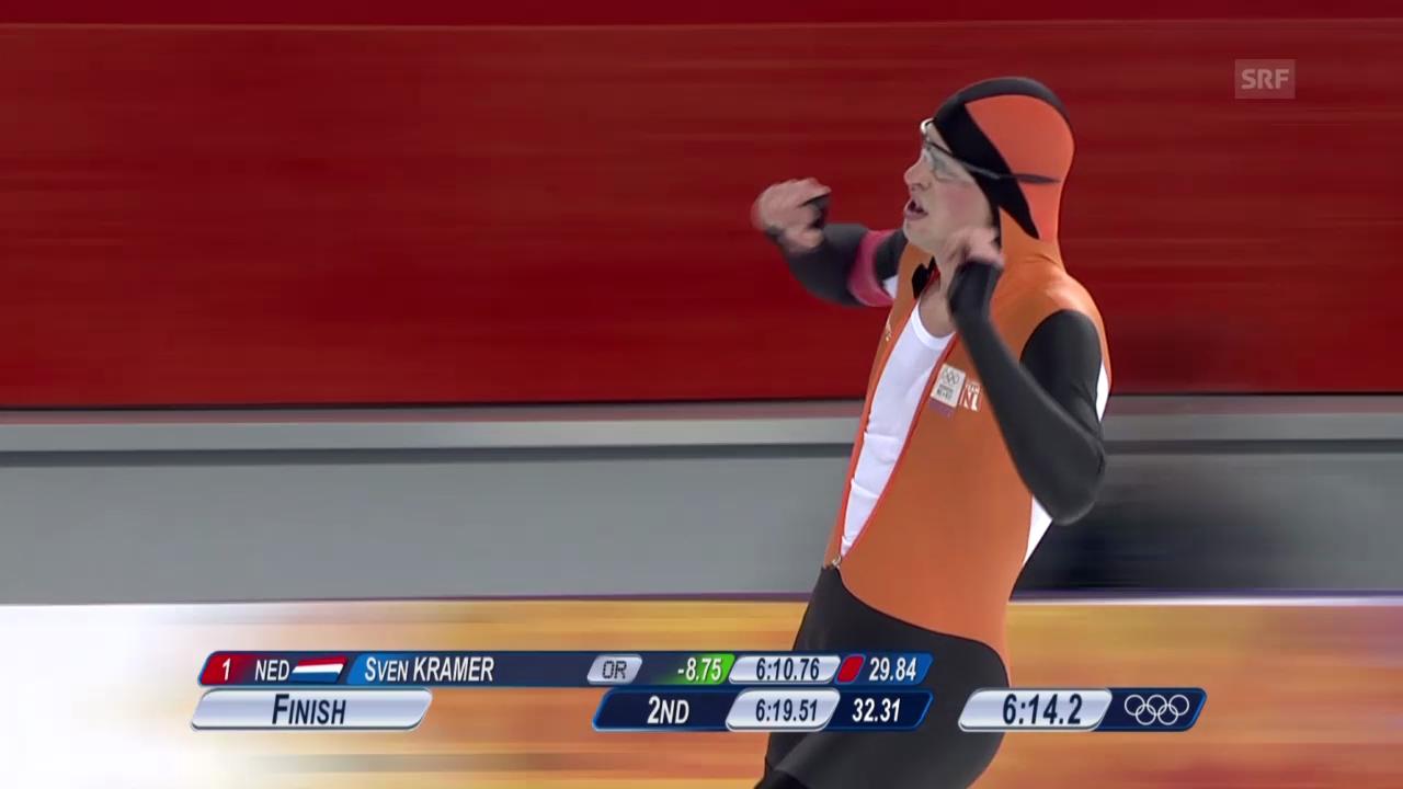 Live-Highlights: Eisschnelllauf, 5000m Männer (sotschi direkt, 8.2.2014)