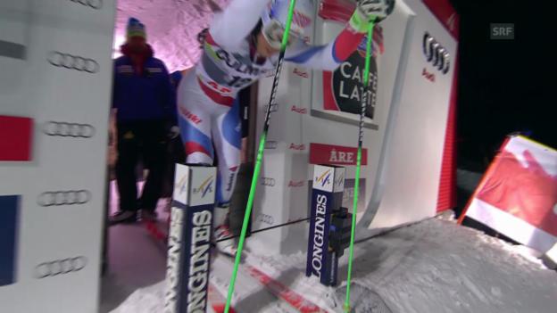 Video «Ski: Riesenslalom Are, 2. Lauf Janka» abspielen