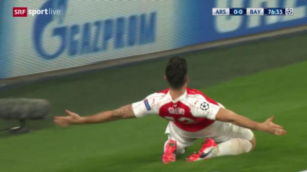 Video «Fussball: CL, Arsenal - Bayern» abspielen