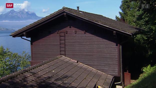 Video «Häuserräumung wegen Steinschlaggefahr» abspielen