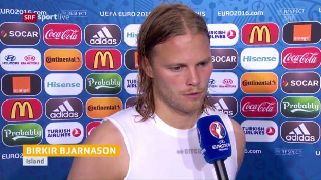 Video «Bjarnason: «Die Unterstützung der Fans war grossartig» (englisch)» abspielen