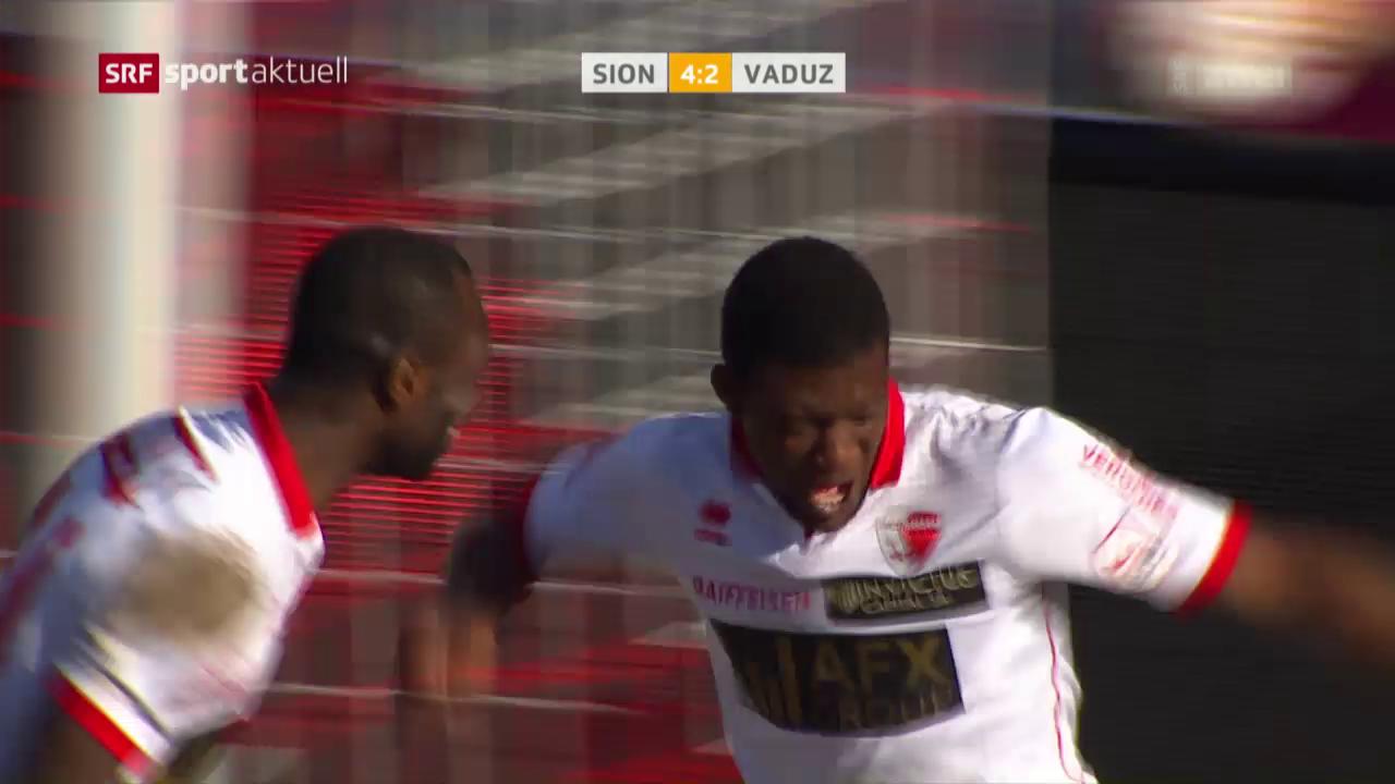 Sion gewinnt torreiche Partie gegen Vaduz