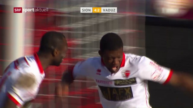 Video «Sion gewinnt torreiche Partie gegen Vaduz» abspielen
