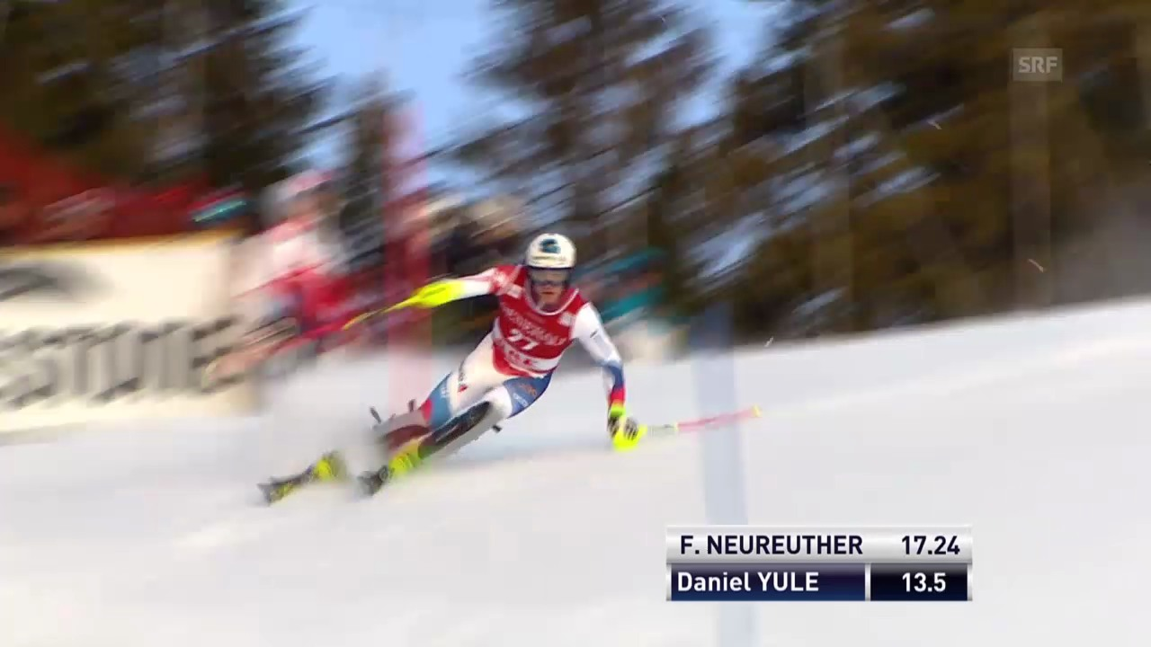 Ski: Weltcup Männer, Slalom Are, 1. Lauf Daniel Yule