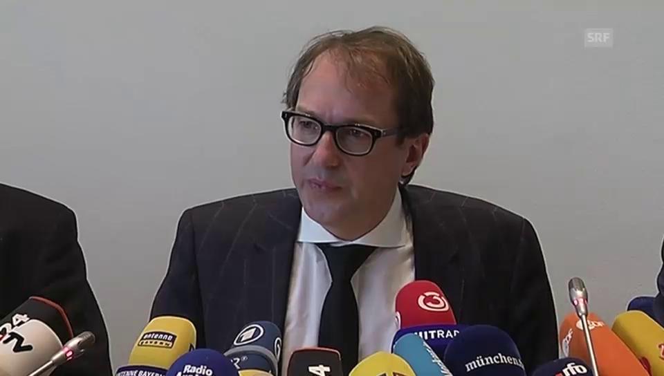 Erste Medienkonferenz zum Zugunglück in Oberbayern