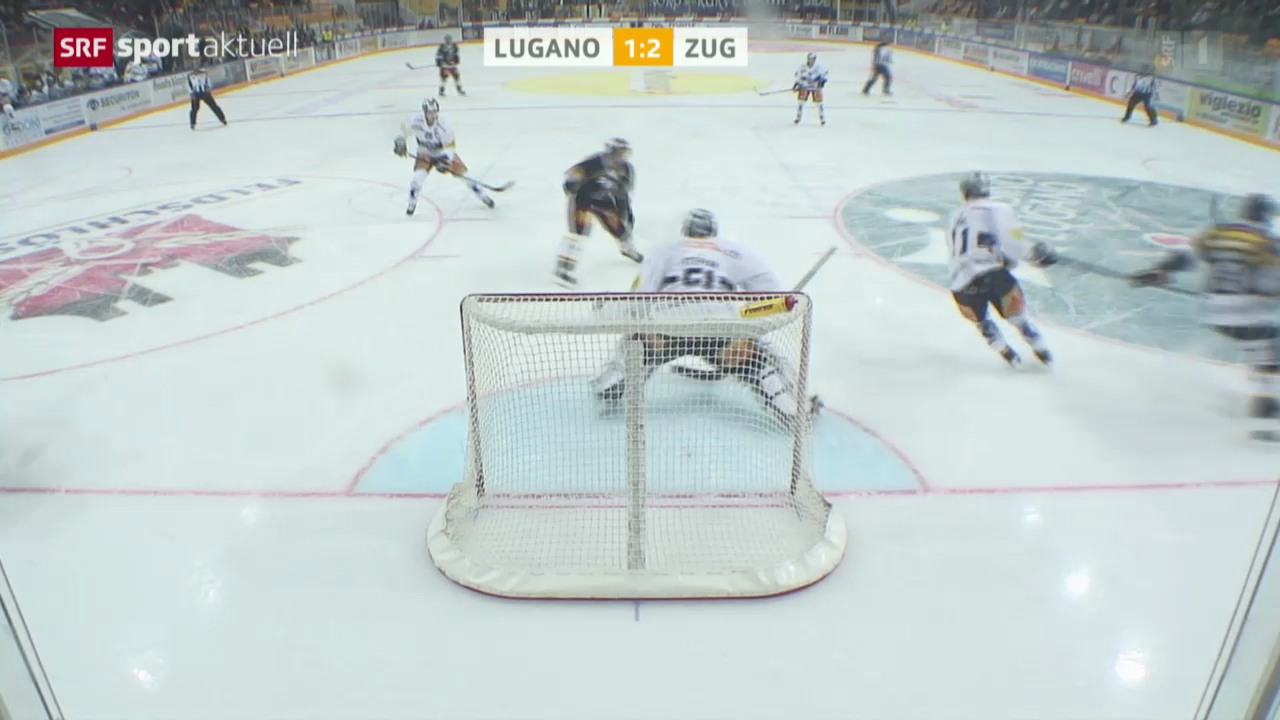 Eishockey: NLA, Lugano - Zug