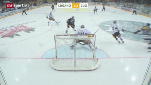 Video «Eishockey: NLA, Lugano - Zug» abspielen