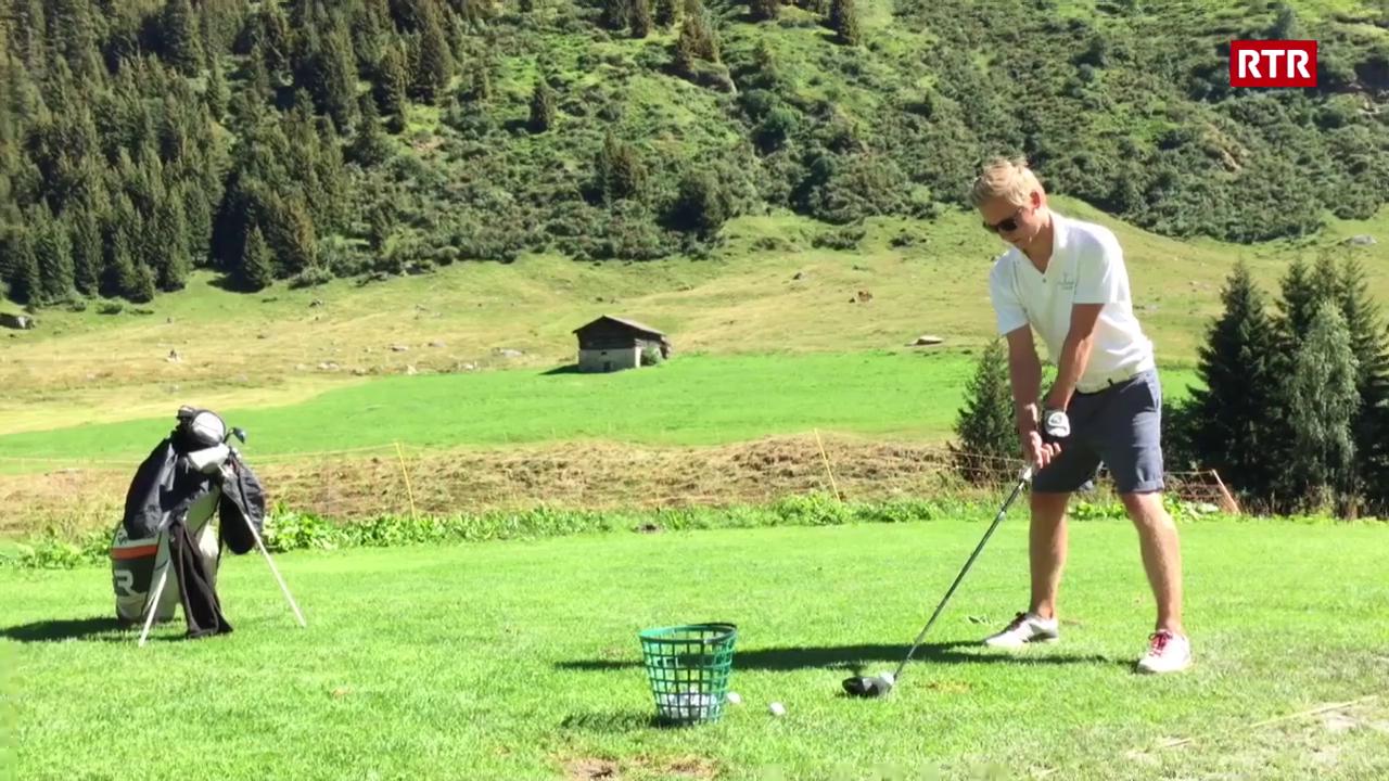 Frederic Cathomas sin la plazza da golf a Selva