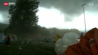 Video «Verletzte nach erneutem Sturm in Biel » abspielen