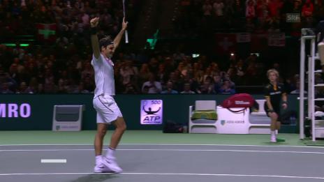 Link öffnet eine Lightbox. Video Die Live-Highlights bei Federer-Dimitrov abspielen