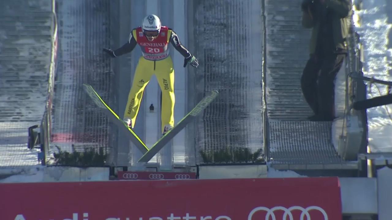 Skispringen: Garmisch, 1. Durchgang, Sprung Deschwanden