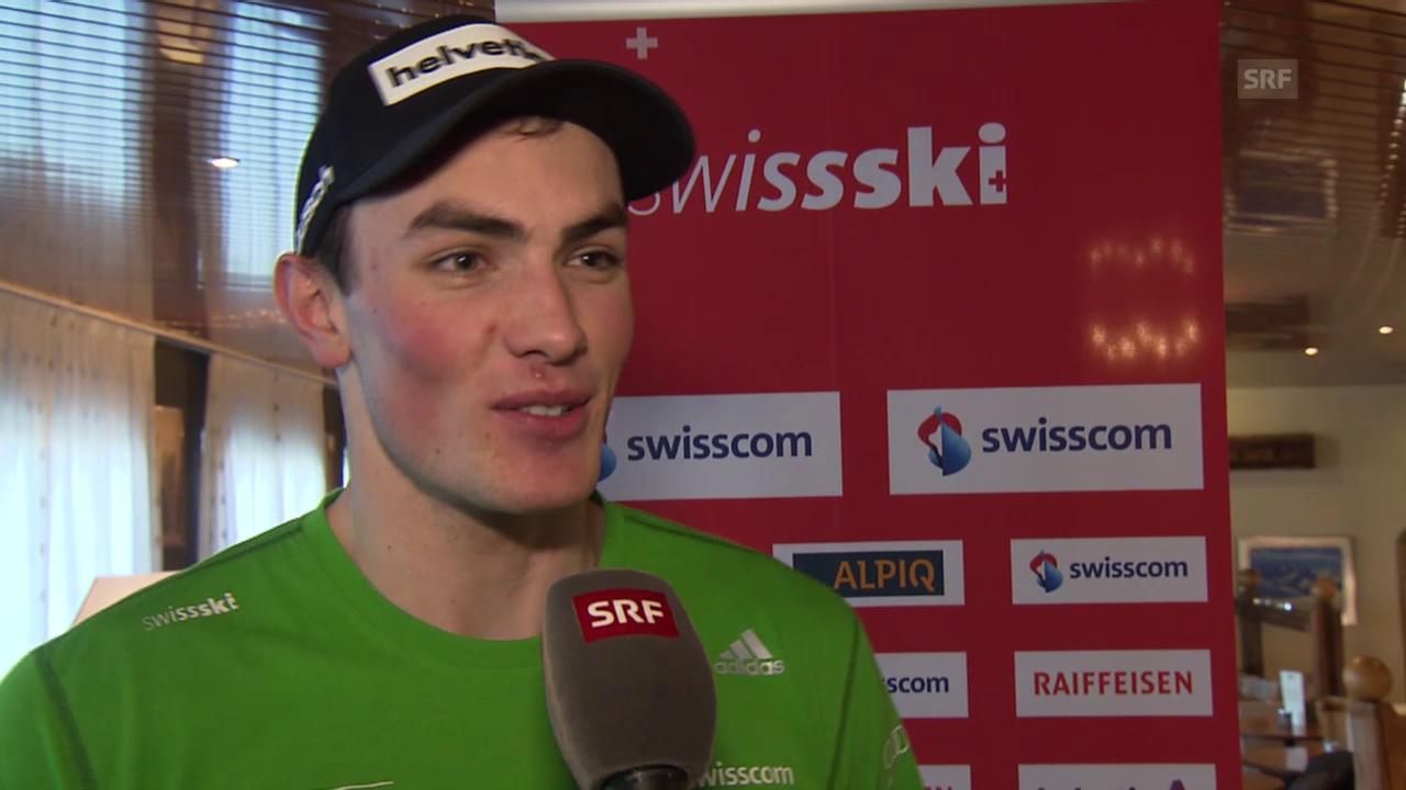Ski Alpin: Slalom in Adelboden, Interview mit Daniel Yule