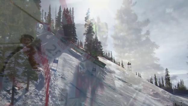 Video «Ski: WM 2015 Vail/Beaver Creek, Super-G Männer, die Fahrt von Caviezel» abspielen