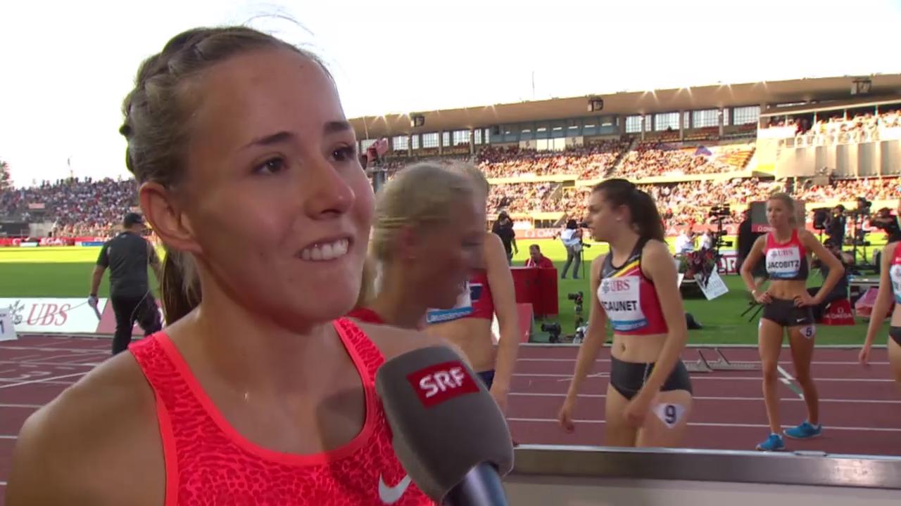 Leichtathletik: Athletissima Lausanne, Interview Selina Büchel