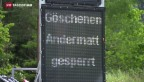 Video «Schöllennenstrasse nach Felssturz gesperrt» abspielen
