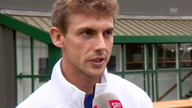 Video «Laaksonen vor seinem ersten Wimbledon-Auftritt» abspielen