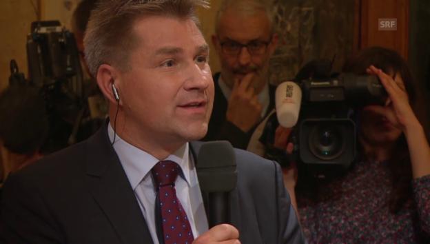 Video «Toni Brunner fordert 2. Bundesratssitz für SVP» abspielen