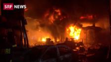 Link öffnet eine Lightbox. Video Feuer-Inferno in Bangladesch abspielen