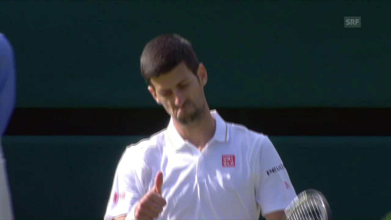 Guardar la balla da match Djokovic : Querrey