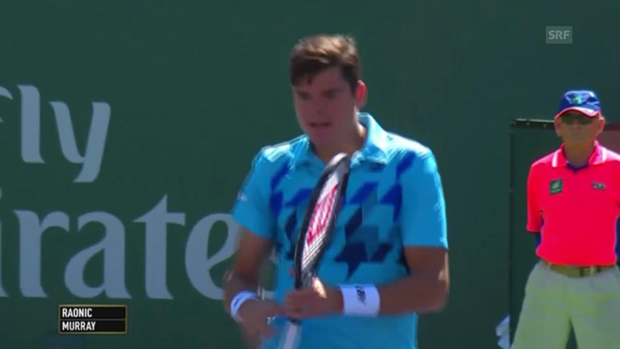 Tennis: ATP Indian Wells, Matchball bei Raonic-Murray