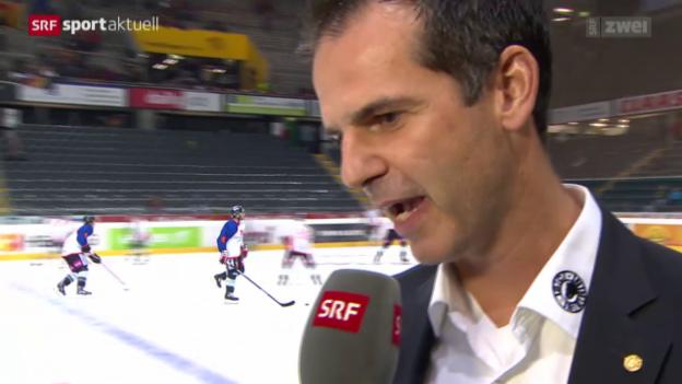 Video «Eishockey: Interview mit Sven Leuenberger» abspielen