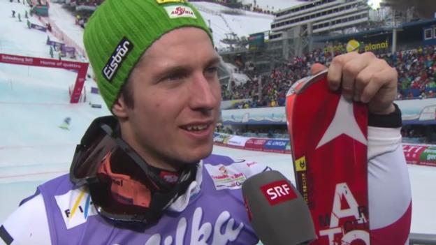 Video «WM-Slalom: Interview Hirscher» abspielen