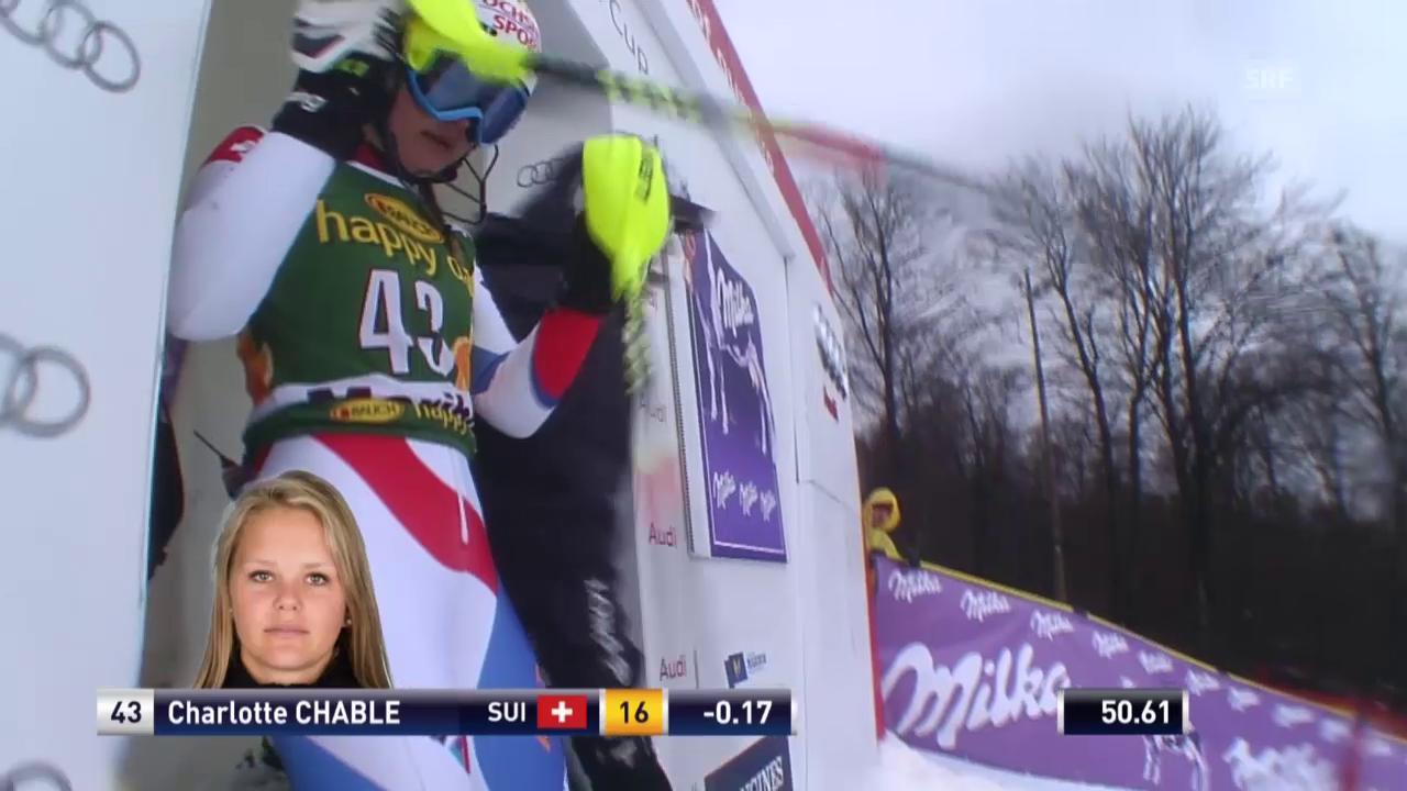 Ski: Slalom Maribor, 2. Lauf von Charlotte Chable