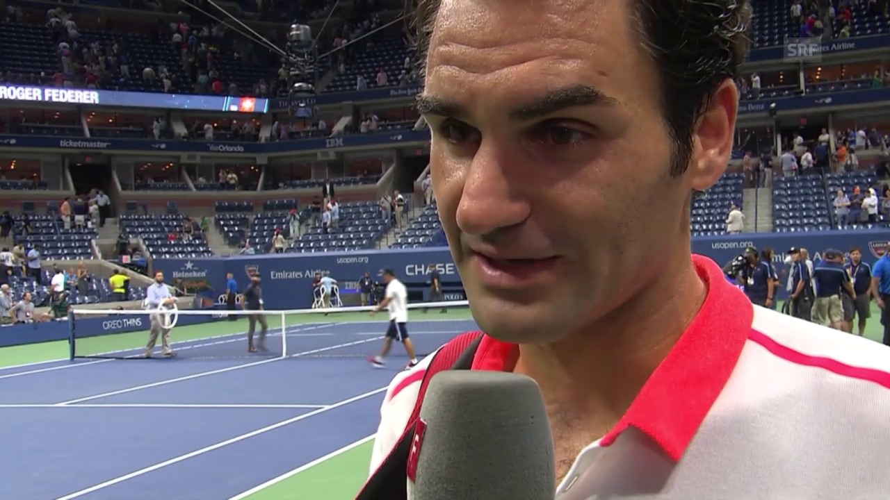 Tennis: US Open, Interview Federer