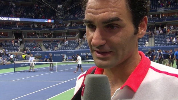Video «Tennis: US Open, Interview Federer» abspielen