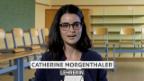 Video «Catherine Morgenthaler, für «Hallo SRF!» beim Echo der Zeit» abspielen